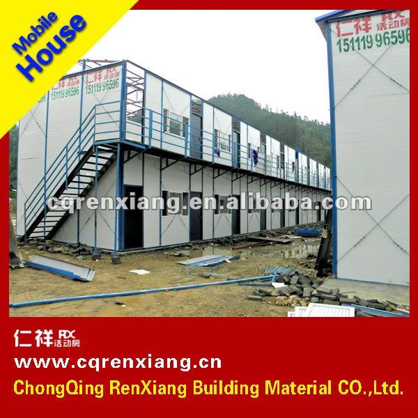 Rx Building Standard Room Two Story Light Steel Structure Mobile ...