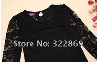 free shipping women ladies sexy cotton lace dress, maxi casual dress S M L XL for spring and autumn promotio