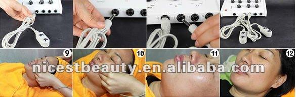 Microcurrent Faradic Facial Lifting Toning Machine Anti aging Wrinkle slim SPA