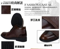 Мужские ботинки 2013 winter new men's genuine leather business casual keep warm cotton-padded shoes, special offer, ABC094