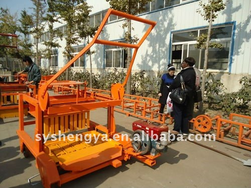 QMY4-45 Diesel engine concrete manual brick making machine
