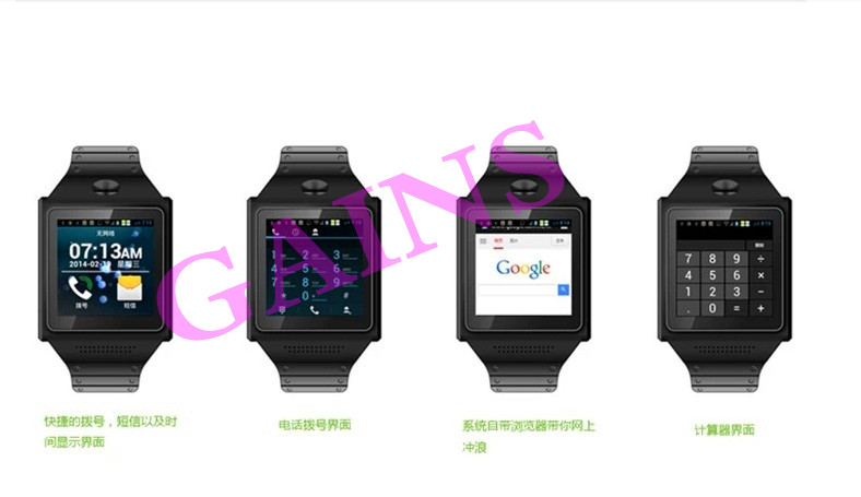 2014 Cheap bluetooth wifi touch screen android smart watch