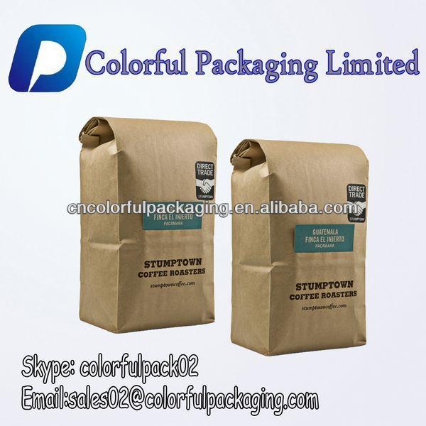 usine offre pas cher side gousset sac en papier kraft pour grain de caf avec tin cravate made. Black Bedroom Furniture Sets. Home Design Ideas