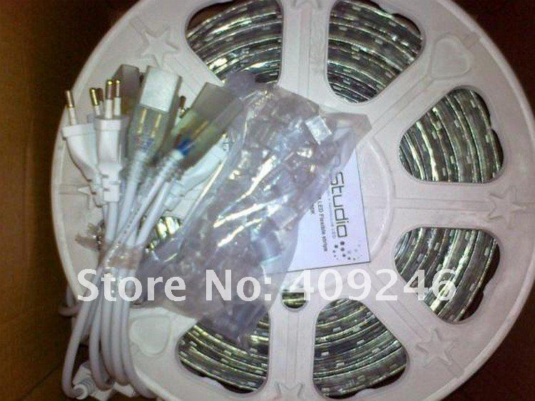 5050 LED strip 220V high voltage white,cold white,rgb 5050 Tube Waterproof flexible SMD led strip 60leds/M 300leds/5M