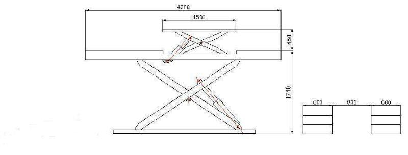 Automotive Lifts Dimensions : Garage equipment car scissor lift sxjs view