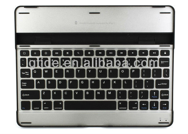 2013 hot selling Ultra slim aluminum wireless bluetooth arabic keyboard case for ipad