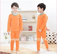 "Нижнее белье для мальчиков N j R thermal underwear suits with velvet thickening of children's ""golden boy girl baby pajamas, children's wear"