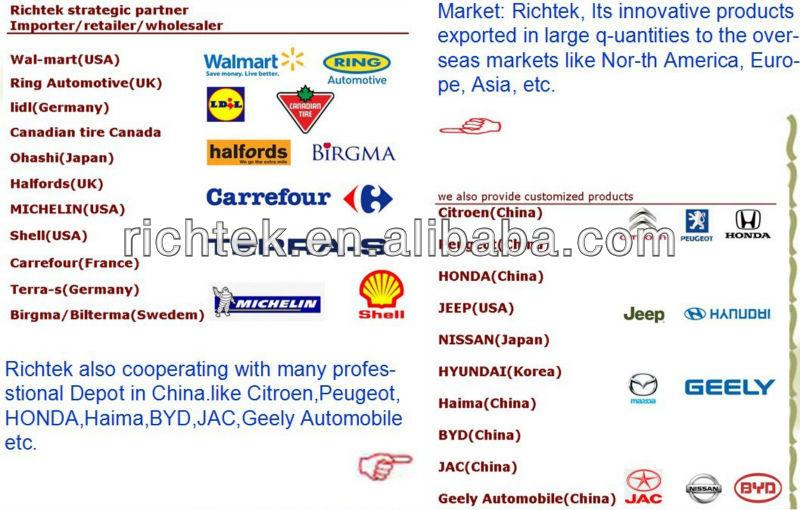 portable mini hot selling tire sealer & inflator, tire sealer & inflator Richtek RCP-B1