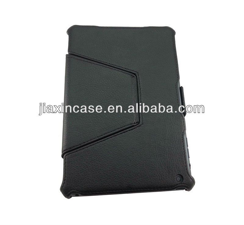 Factory wholesale leather case with built-in sand support smart cover for ipad mini 7.9 inch tablet