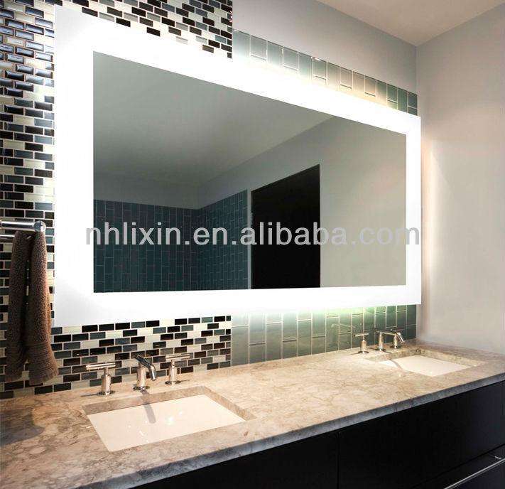 Miroir lumineux avec anti - brouillard, Miroir de salle de bain ...