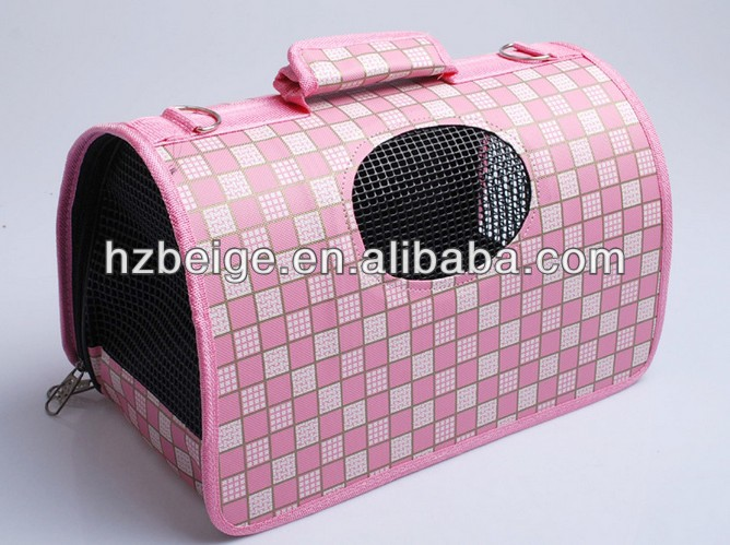 pet dog or cat sleeping bag bed fashion grid folding pet bag manufacturer China