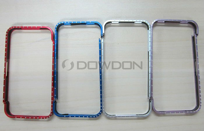 Metal Aluminum Bumper Cross Line Cell Phone Case for iPhone 4 4S