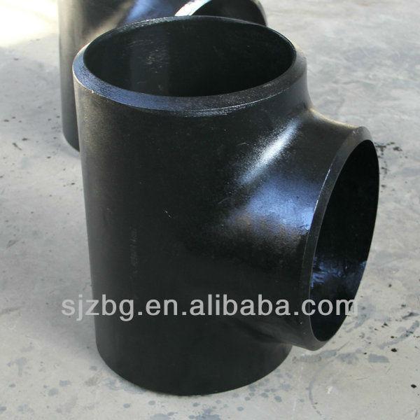 BG asme b16.9 carbon steel pipe fitting hydraulic tee fitting
