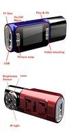 Автомобильный видеорегистратор H190K Car Camera/DVR, 130 degree 1280*720 5.0M pixel 8 pcs IR light