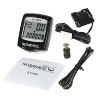 3 Colors Choice Waterproof LCD Cycling Bicycle Bike Computer Odometer Speedometer Free Shipping+Drop Shipping Wholesale