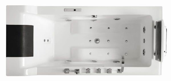 M-BTV003 Top Luxury factory made acrylic square whirlpool bath tub with TV