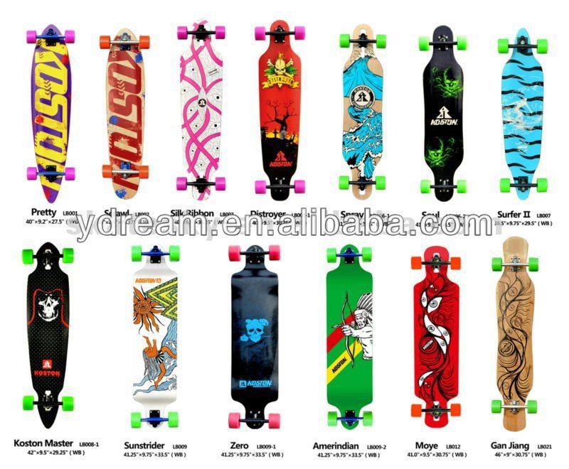 Blank Skateboard Wheels Skateboard w/ 71mm Wheels