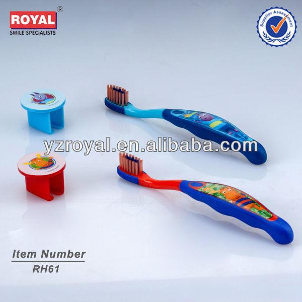 Chine bébé brosse à dents avec cap impression