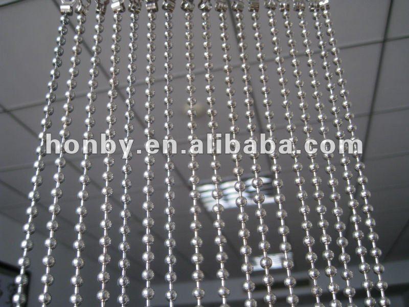 suspendus argent couleur m tal perle porte rideau autres. Black Bedroom Furniture Sets. Home Design Ideas