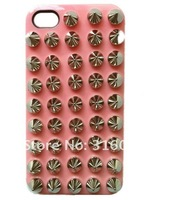 Чехол для для мобильных телефонов DIY Stud Bullet punk Fashion style Case Cover For iPhone 5, 5G studded case, 10 color+retail Package, 10pcs/lot