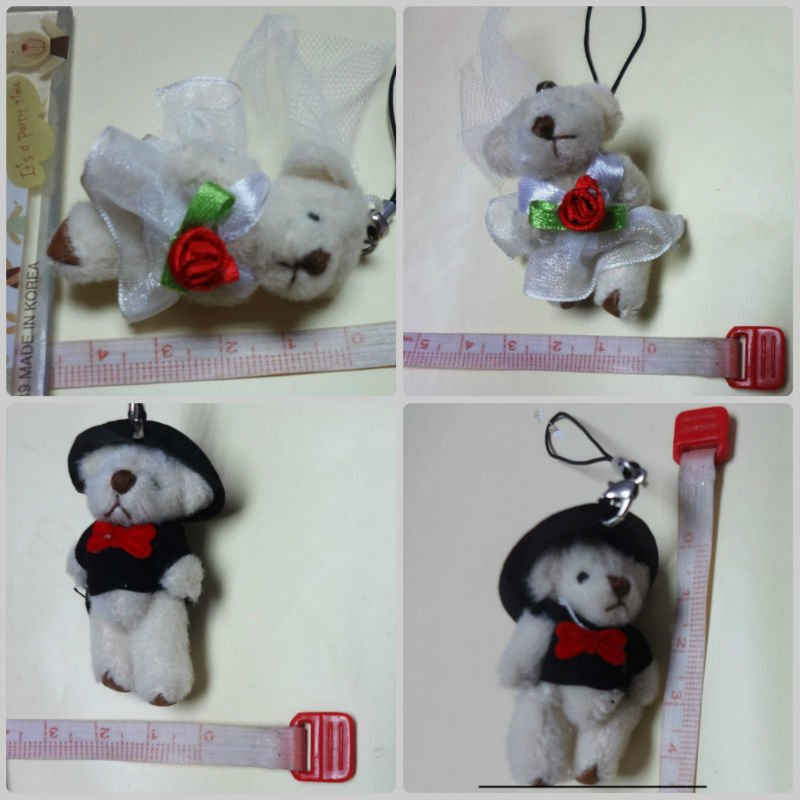 The 4cm wedding bear\'size