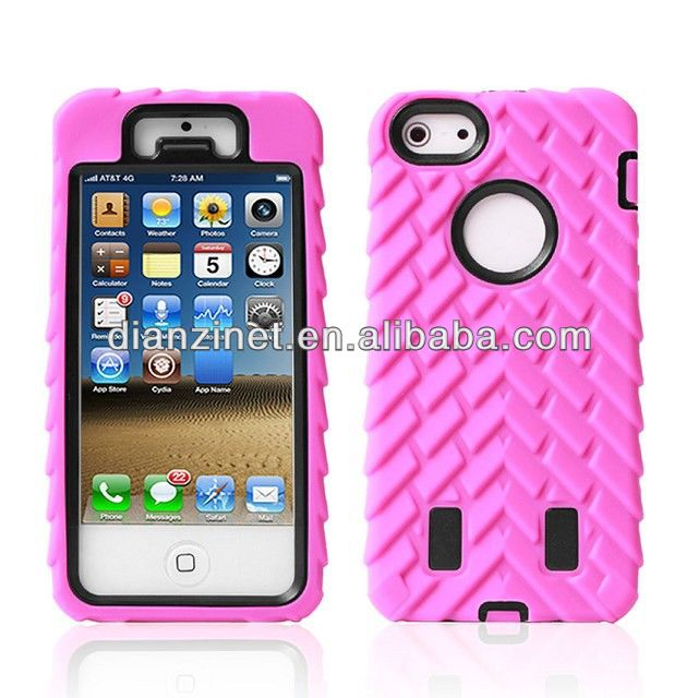 Tyre Stripe Combo Hybrid Phone Case for APPLE iPhone 5 5S