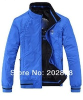 2013 new autumn winter mens fashion sports for  Men's double-sided wear jacket collar coats Color blue black