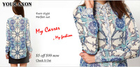 Женские блузки и Рубашки 1210 Clearance Sale! 2013 fashion wild sexy vintage V-neck sequined snake pattern printing chiffon Tops shirts a+ blouse