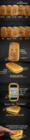 Чехол для для мобильных телефонов Bread Hamburger Style PU Soft Case for iPhone 4 4G