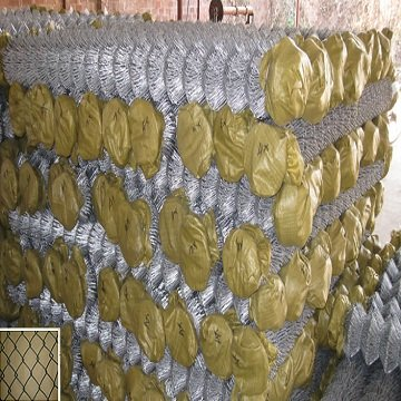 Flexible chain link mesh for fencing