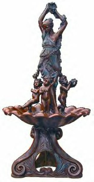 Bronze Nepjuno Horse Fountain with angels