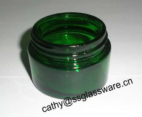 20ml vaso di vetro cosmetica con coperchio