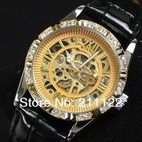 Al золотые часы с diamond автоматические механические часы для женщин