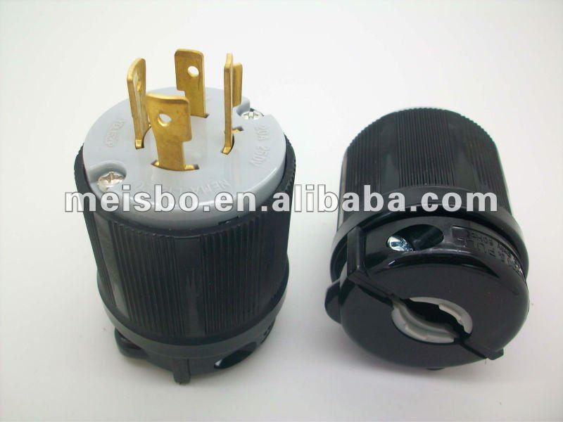 Twist-locking Type Bakelite Copper Us Electrical Plug Polarity - Buy ...