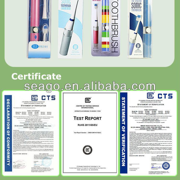 SG923 Sonic hotel mini toothbrush