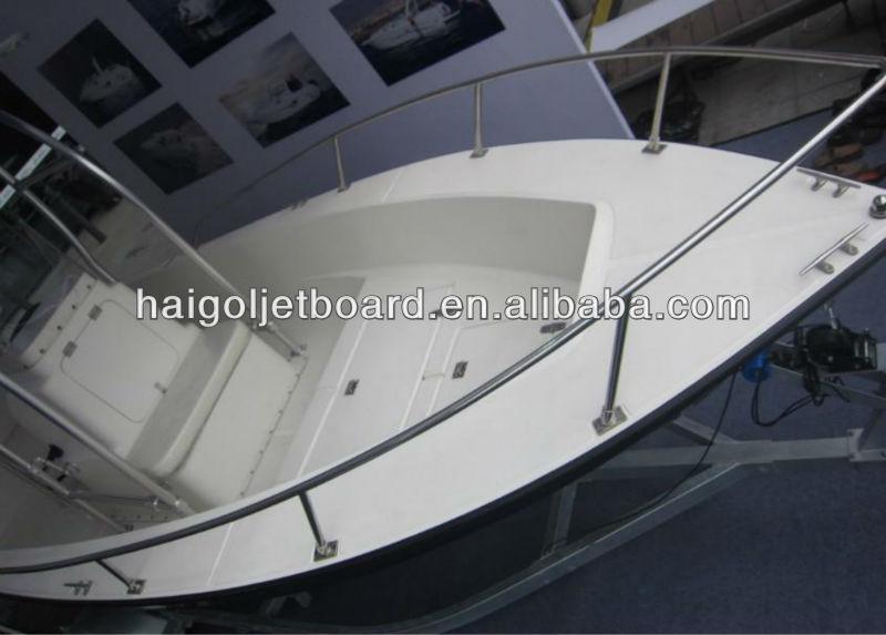 2013 hot sale 19ft centro // console barco de pesca barco de fibra de vidro frp