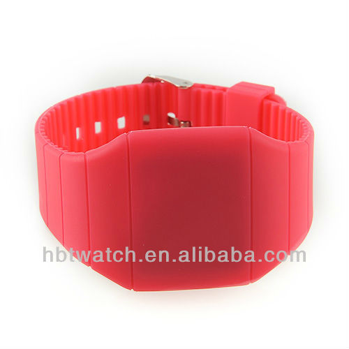 Crazy hot super thin touch screen watch silicones all colors