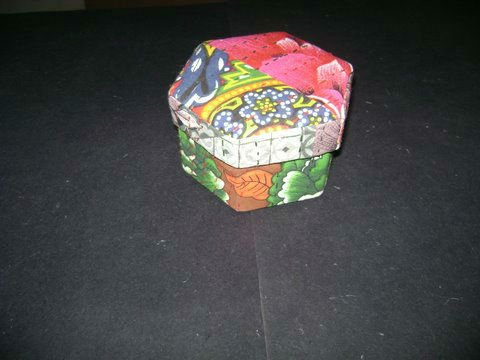 Patchwork Fabric Covered BOX