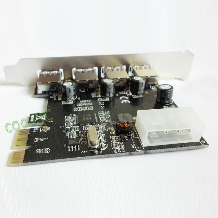 PCI-e 1x 4 ports USB3.0 card
