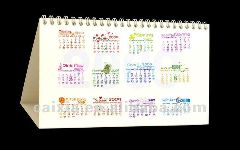 2012 monthly desktop calendar