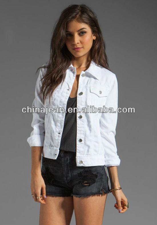 elegante denim chaquetas para las mujeres seora jeans chaqueta de algodn jxj