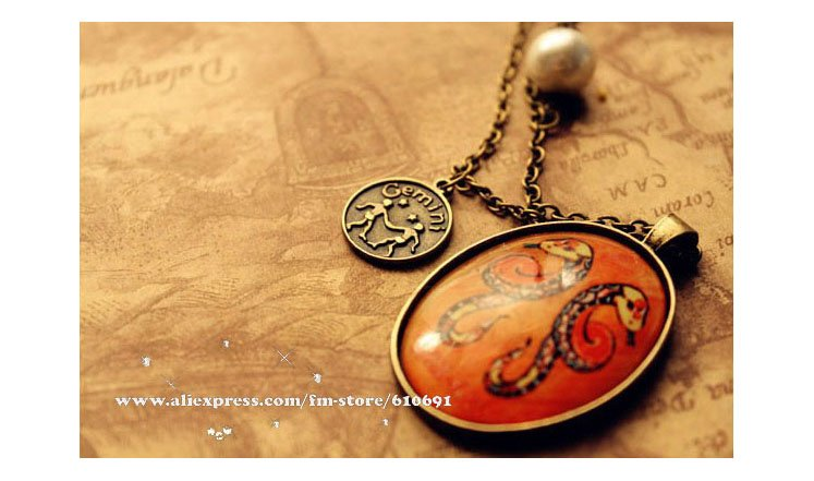 Min order 12pcs/lot mix available,Retro 12 constellation necklace,4019--1.3037A. FreE ShiPPinG