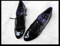 ZAR@ 2012 genuine leather women's shoes, brand designer black causal shoes