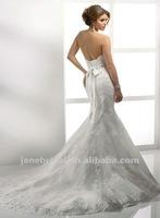 white mermaid lace and beaded wedding dress 2012 fashion