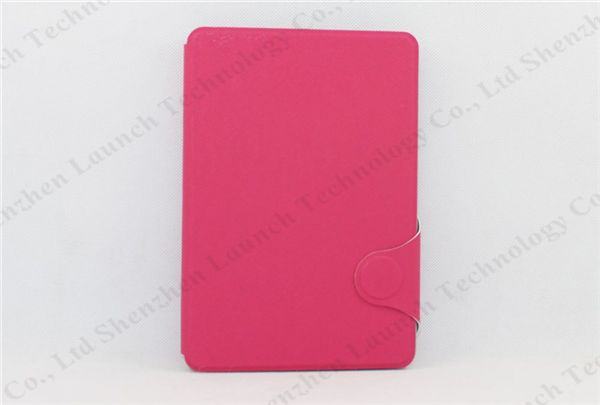 leather case for 6 inch tablet pc, book wallet leather case for iPad mini