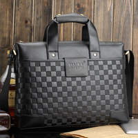 Маленькая сумочка High quality Fashion Cowhide+Composite leather bags genuine leather handbags men the messenger bag retail