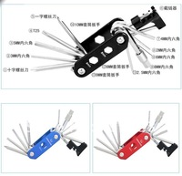 Инструменты для ремонта шин 14 in 1 / multifunction / folding bicycle repair tool set / cut chain / angles / screwdriver