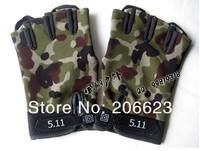 5.11, половина finger камуфляж тактические перчатки Велоспорт велосипед motorcross перчатки Велоспорт велосипедов горы велосипед перчатки дропшиппинг