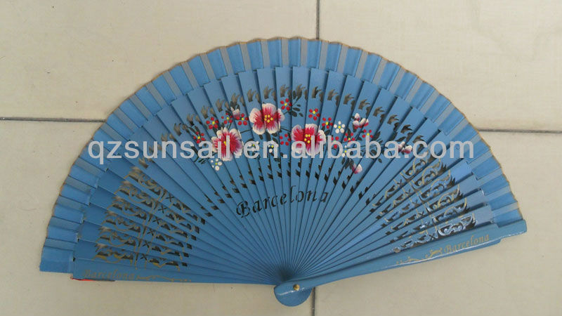spanish folding fabric hand fans for Party