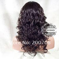 Вьющиеся передние парики бренд 1b # -20'' Супер-волна